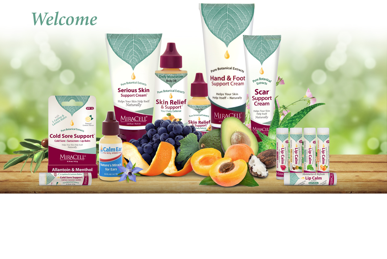 home page banner miracell skincare